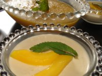 Panna cotta au coulis de mangue