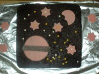 Space chocolate cake