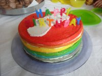 Gay friendly rainbow cake